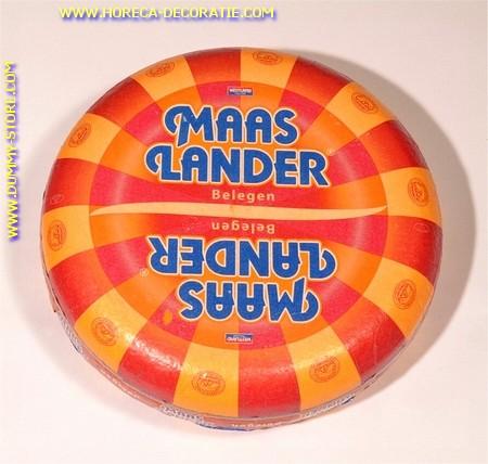 Maaslander ROOD Goudse hele kaas (met opdruk - gebruikt)