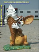 Mouse with soft serve Ice cream 1,55 meter