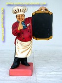 Cook with chalkboard, h: 0,79 meter