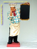 Chef met krijtbord, hoogte: 1,95 meter