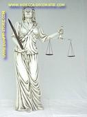 Vrouwe Justitia, hoogte: 1,90 meter