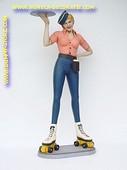 Dame op rolschaatsen, hoogte: 1,69 meter