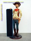 Cowboy met krijtbord, hoogte: 1,74 meter