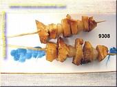 Fleischspiess mit Schalotten (2 stück) - Attrappe