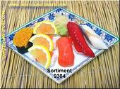 Sushi Menu 4 (ohne Teller) - Attrappe