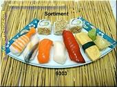 Sushi Menu 3 (ohne Teller) - Attrappe