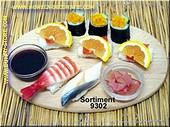 Sushi Menu 2 (ohne Brett) - Attrappe