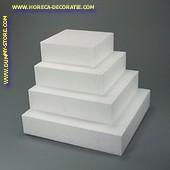 Taartvorm VIERKANT, 250 mm x 250 mm, H: 70 mm