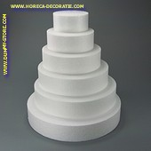 Taartvorm rond, Ø 400 mm, H: 70 mm