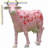 Erdbeer Kuh Lebensgross