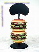 Hamburger, dubbel, 0,75 meter