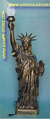 Liberty Statue in gold, h 1,00 meter