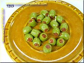 Olives, 20 pcs, GREEN, filled