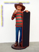 Freddy Kruger with chalkboard,  h: 1,74 Meter