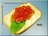 Toast met gele Kaviaar - dummy