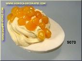 Gevuld Ei met gele Kaviaar - namaak