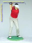 Modern golfer , h: 1,90 meter