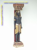 Egyptian column male, h: 2,00 meter