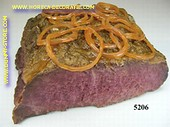 Roastbeef with onion rings - dummy