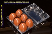 Box with 6 pcs Chocolate brown eggs (dummy)