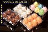 4x Box with 6 dummy eggs, several colors