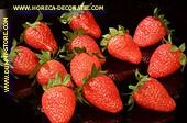 Erdbeer Attrappe, 12 stück medium