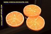 Sinaasappel schijven GROOT, 3 stuks - Ø 80 mm - Fruitdummy