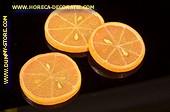 Apfelsinen Scheiben, 3 Stück - Attrappe
