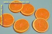 Apfelsinen Scheiben LUX, 6 Stück - Attrappe