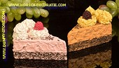 Cake (Attrappe) 2 pcs PINK + BRAUN