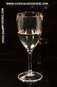 Glas Witte Wijn in glas met lange voet - dummy