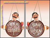 Bar Open-Close sign (tweezijdig) 30x30 cm