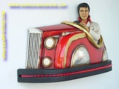 Elvis in Autoskooter,  hxlxd: 0,65, 1,03, 0,34