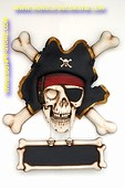 Pirate decoration with chalkboard, h: 1,05 meter