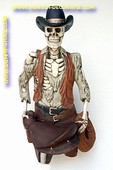 Skeleton pirate (hanging version) h: 1,28 meter