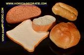 Brot,  Auswahl gemischt, 5 Stück - Attrappe