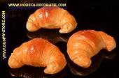 Croissant, 3 stuks - 120 x 80 mm - brooddummy