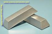 Staaf zilver, decoratie 245 x 75 mm