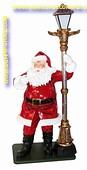 Kerstman met lantaarnpaal, hoogte: 0,79x1,50 meter