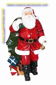 Large Santa, wit bell and bag, h: 1,55 meter