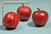 Appels rood, medium, 3 stuks (decoratie)
