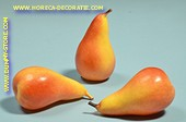 Pears, yellow-red, 3 pcs. - dummy