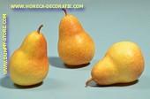 Birnen gelb, medium, 3 Stück - Attrappe