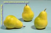 Birnen gelb/grün,  gross, 3 Stück - Attrappe