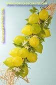 Zitronen, 20 Stück am Strang - Attrappe