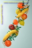 Vers. sorten Obst am Strang - Attrappe