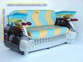 Cadillac Auto Sofa, Turqoise