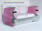 Cadillac Car Sofa, Pink 2