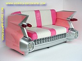 Cadillac Car Sofa, Pink