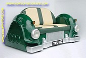 Mercedes Car Sofa, Green